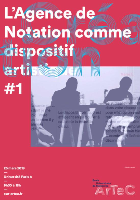 Évaluation générale. L'Agence de Notation comme dispositif artistique # 1, 25 mars