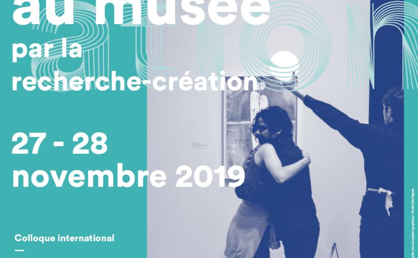 La médiation transartistique au musée pour la recherche-création, 27-28 nov.