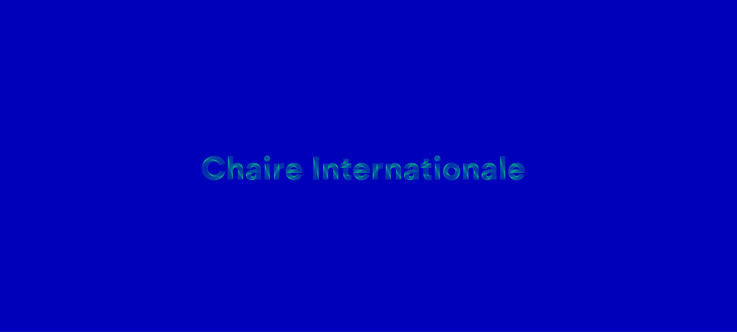 Chaire internationale 2021-2022